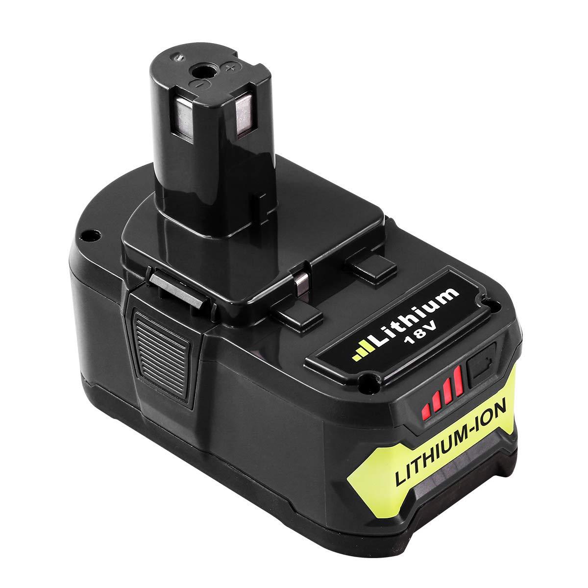 6.0AH for Ryobi 18v Battery Replace Ryobi One Plus Lithium Battery P100 P102 P104 P105 P108 P107