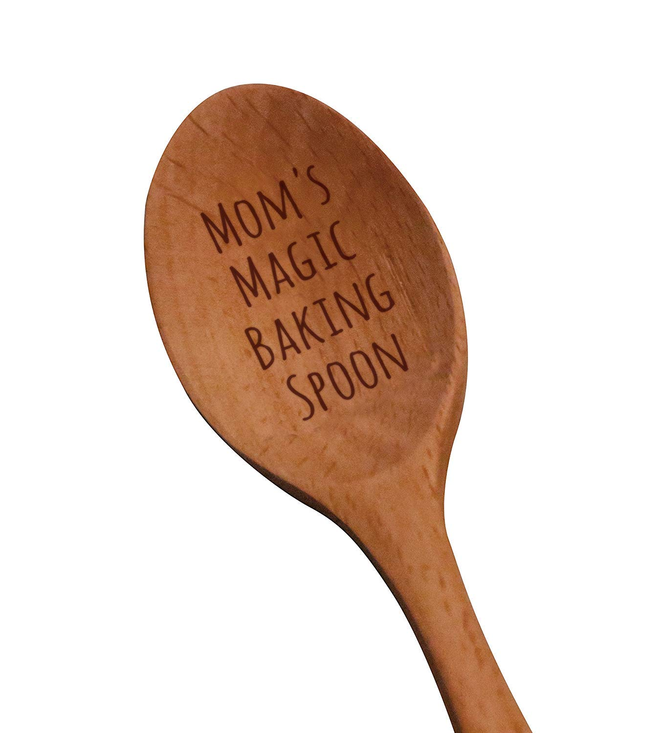 """Laser Engraved""""Mom's Magic Baking Spoon"""" Wooden Spoon - New Mom Gifts - Baking Gifts - Birthday Gifts For Moms - Mother's Day Gifts - Baby Shower Gifts"""