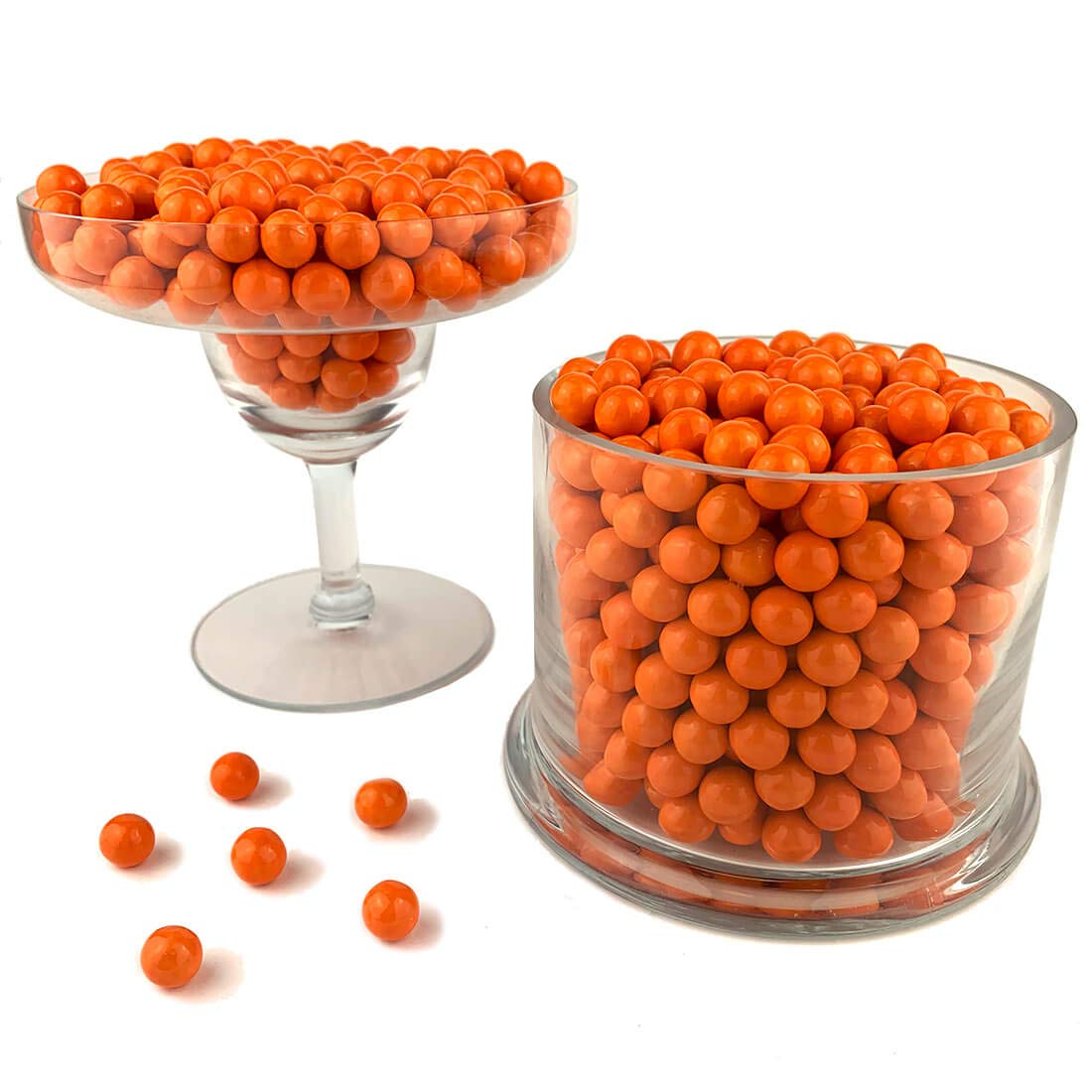 Color It Candy Orange Sixlets 2 Lb Bag - Perfect For Table Centerpieces, Weddings, Birthdays, Candy Buffets, & Party Favors.