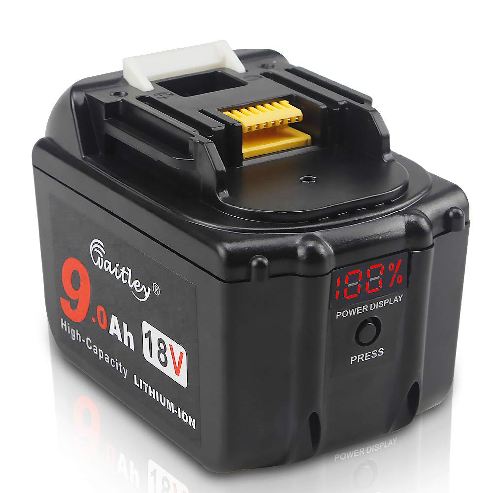 Waitley BL1830 18V 9.0Ah Replacement Battery Compatible with Makita BL1840 BL1850 BL1860 BL1890 LXT Lithium-Ion Battery Tools with LED Indicator