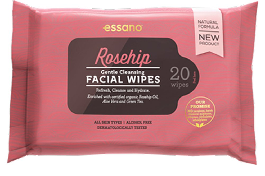 Essano Gentle Cleansing Facial Wipes, 20 Pack