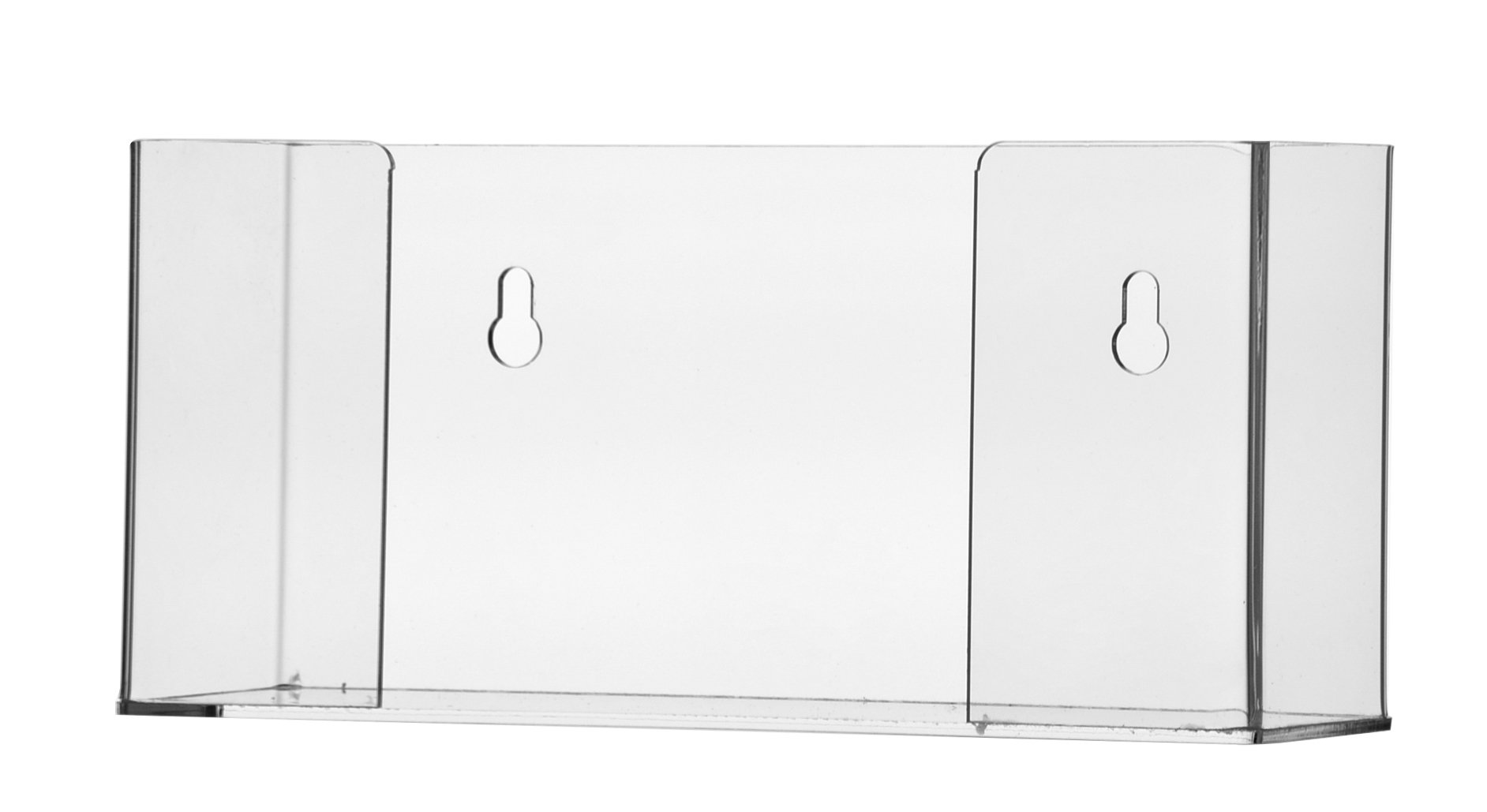 """Marketing Holders 11 1/2""""W x 6 3/4""""H Paper Towel Dispenser or Glove Box Holder Premium Clear Acrylic Pack Of 1 Wall Mount Or Countertop Table Top Hand Towel Organizer Multifold Napkin Glove Box Holder"""