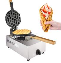 Waffle Maker Professional Rotated Nonstick (Grill/Oven for Cooking Puff, Hong Kong Style, Egg, QQ, Muffin, Cake Eggettes and Belgian Bubble Waffles) (GAS Type)