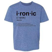 Pop Threads Ironic Isn't It? Definition 90s Song Funny Toddler Kids Girl Boy T-Shirt