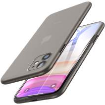 TOZO for iPhone 11 Case 6.1 inch(2019), Ultra Thin Hard Cover [0.35mm] World's Thinnest Protect Bumper Slim Fit Shell [ Semi-Transparent ] Lightweight with [Matte Finish Black]