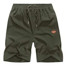 EXEKE Men's Running Shorts Quick Dry Training Shorts Lightweight Hiking Shorts with Zipper Pocket