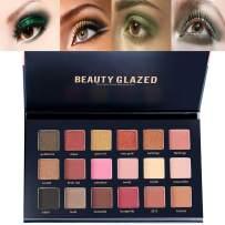 Beauty Glazed 18 Colors Rose Gold Textured Eyeshadow Palette Makeup Contour Metallic Eye Shadow Palette