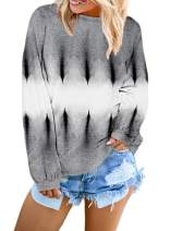 Women's Long Sleeve Casual Sweatshirt Pullover Loose Tunic Shirts Blouse Tops