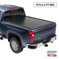 """RetraxONE MX Retractable Truck Bed Tonneau Cover   60842   Fits 2007-2020 Tundra Regular & Double Cab with Deck Rail System   6' 5"""" Bed"""