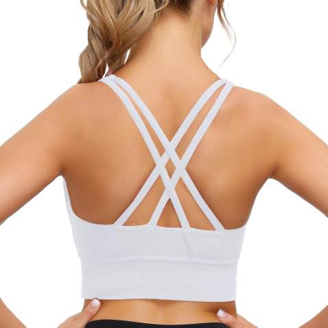 Women Seamless Yoga Sports Bra Crop Tops Vest Ladies Stretch Bralette Soft Tunic