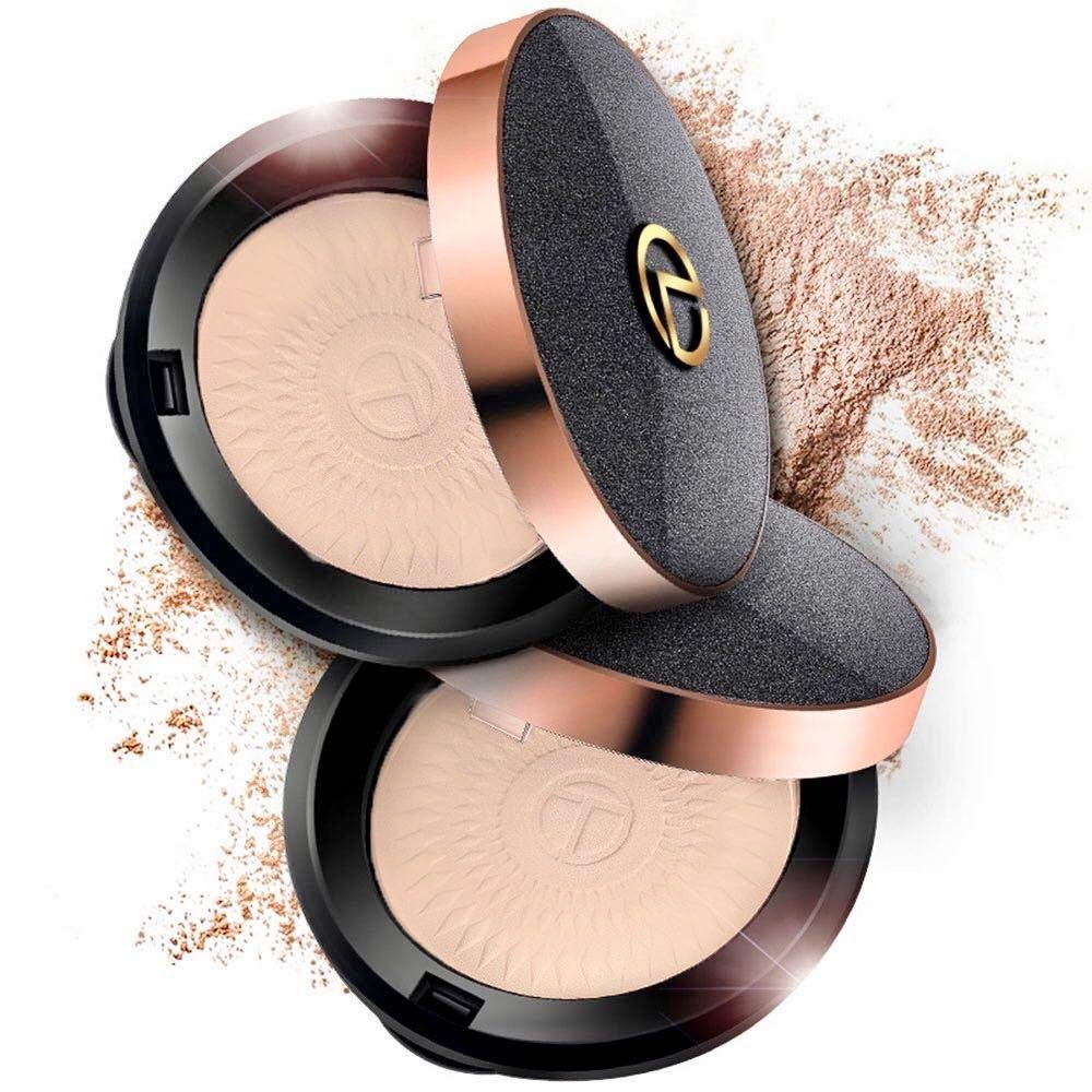 Face Powder Compact Makeup Loose Translucent Foundation Setting Pressed Powder for Oily Aging Dry Skin Matte Fair Finishing Make Up Kit Gift for Mom Women Girlfriend Girl On Sale