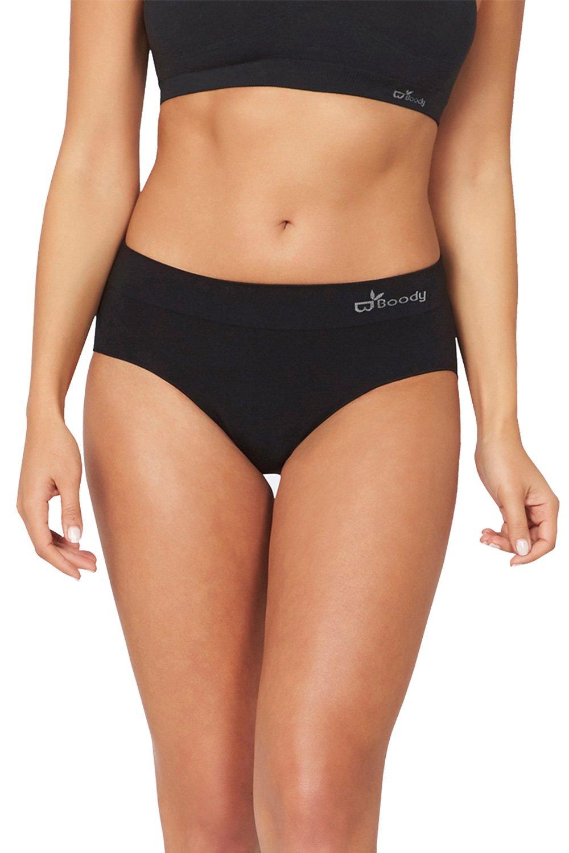 Boody Body EcoWear Women's Midi Brief - Bamboo Viscose - Classic Mid Rise Underwear