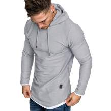 Uni Clau Fashion Men Athletic Hoodies Sweatshirt Pullover Gym Workout Muscle Hoodie T Shirt