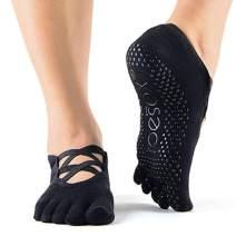 ToeSox Grip Pilates Barre Socks, Non Slip Elle Full Toe for Yoga and Ballet