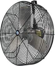 "Schaefer F5-24 Versa-Kool 24"" High Velocity Livestock Circulation Fan, Made in USA, 1/2 HP, 7680CFM, Hang Mount Included, Black"