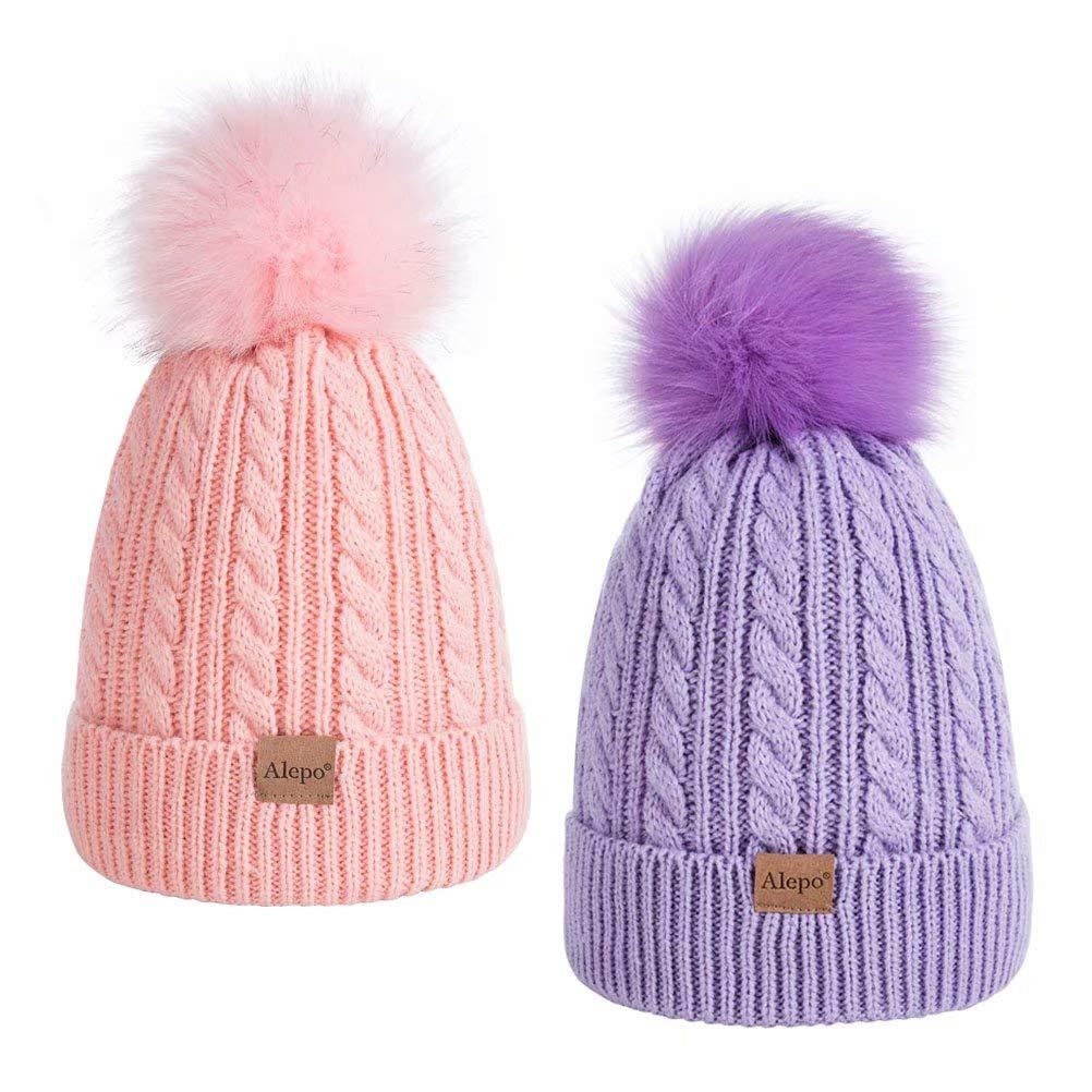 XIAOHAWANG Baby Boy Winter Hat Warm Ushanka for Toddler Girls Knit Hats with Earflap Kids Trooper Caps