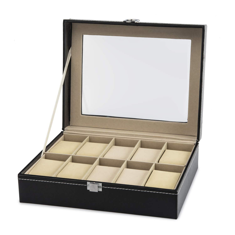 BOBO BIRD Wood Watch Box 8 Slot Watches Case, Wooden Watch Display Case Watch Organizer, Jewelry Storage Case (10)
