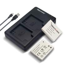 Newmowa NB-6L Battery (2 Pack) and Dual USB Charger Kit for Canon NB-6L and Canon Powershot D10, D20, D30, S90, S95, S120, SD770 is, SD980 is, SD1200 is, SD1300 is, SD3500 is, SD4000 is, SX240 HS