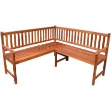 Tidyard Outdoor Wood Garden L-Shape Corner Sofa Bench Acacia Wood
