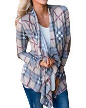 Inorin Womens Long Cardigans Lightweight Open Front Long Sleeve Camo Cardigan Summer Sweaters Jackets