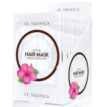 ST. TROPICA Coconut Oil Hair Mask (12 Hair Masks) #1 Ranked on Skin Deep, with Biotin + Hair Superfoods for STRONGER, THICKER, LUSTROUS Hair. Restorative Hair Mask, Deep Conditioner, Hot Oil Treatment
