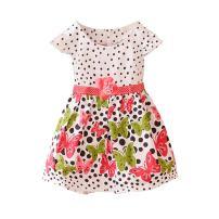 Weixinbuy Baby Girl's Cotton Polka Dots Short Sleeve Tutu Dress