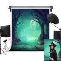 Kate 6.5x10ft/2m(W) x3m(H) Halloween Background Full Moon Backdrops Creepy Forest Pumpkins Backdrop Halloween Party Decoration Photography Studio Prop