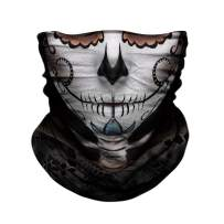 TERNNK Skull Face Mask Half Sun Dust Wind Protection, 3D Tube Mask Seamless Durable Face Mask Bandana Skeleton Face Mask Motorcycle Bike Riding Fishing Hunting Cycling Festival, Many Patterns (F25)