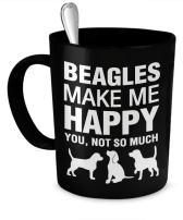 Beagle Mug - Beagles Make Me Happy - Beagle Gifts - Beagle Coffee Mug