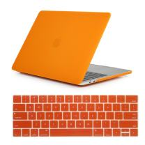 """Se7enline MacBook Pro 15 Case 2016/2017/2018 with Keyboard Cover Matte Frost Hard Shell Protective Cover for MacBook Pro 15"""" inch A1707/A1990 with Retina Display fits Touch Bar & Touch ID, Orange"""