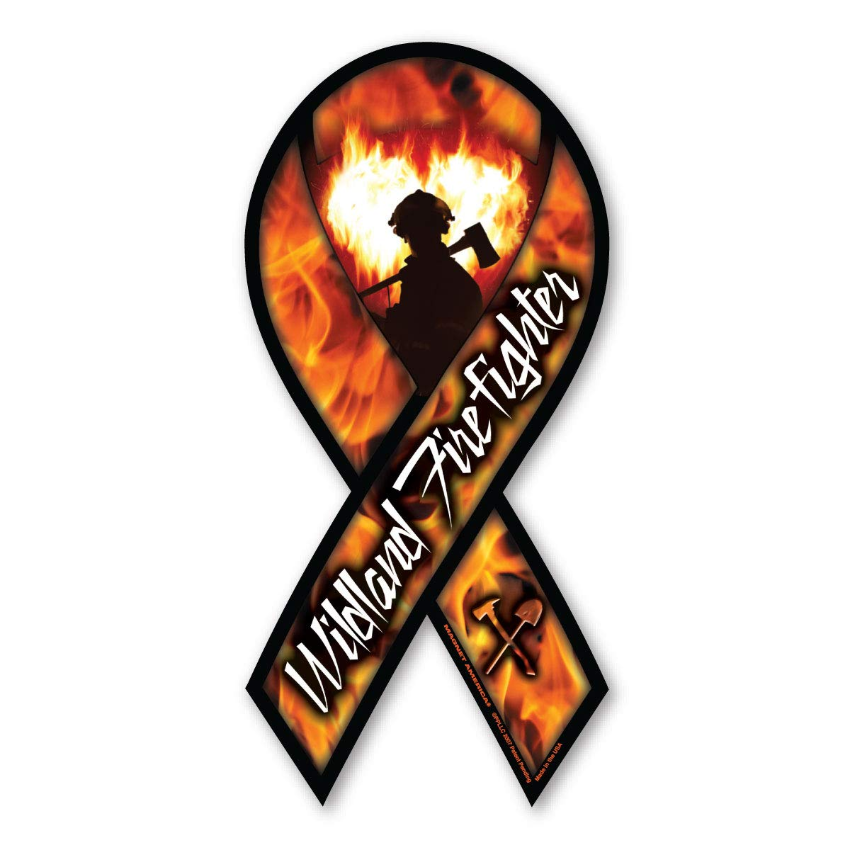 Wildland Firefighter Ribbon Magnet