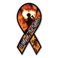Wildland Firefighter Ribbon Magnet