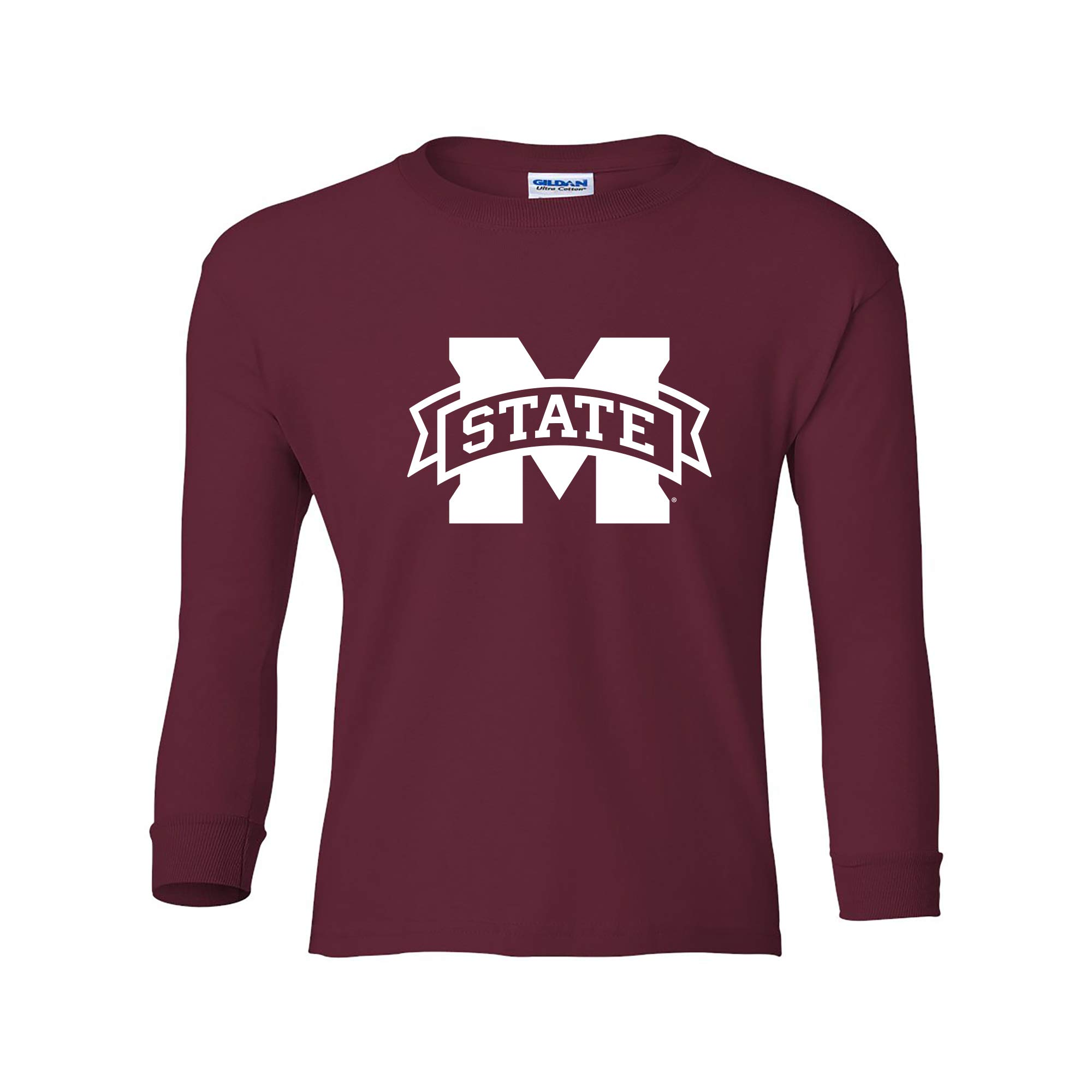 NCAA Primary Logo, Team Color Youth Long Sleeve T Shirt, College, University