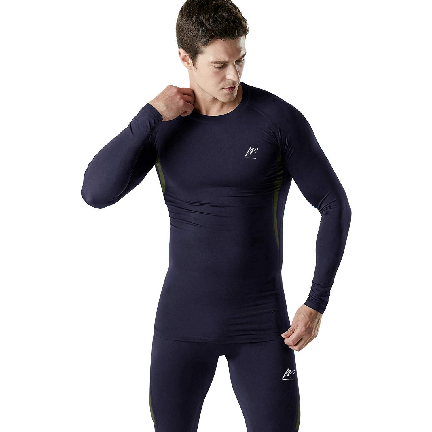 Men's Thermal Underwear Set Sports Long Johns Base Layer Compression Gear for.