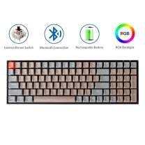 Keychron K4 Mechanical Keyboard, Wireless Mechanical Keyboard with RGB Backlight/Gateron Brown Switch/Wired USB C / 96% Layout, Bluetooth Gaming Keyboard for Mac Windows PC Gamer
