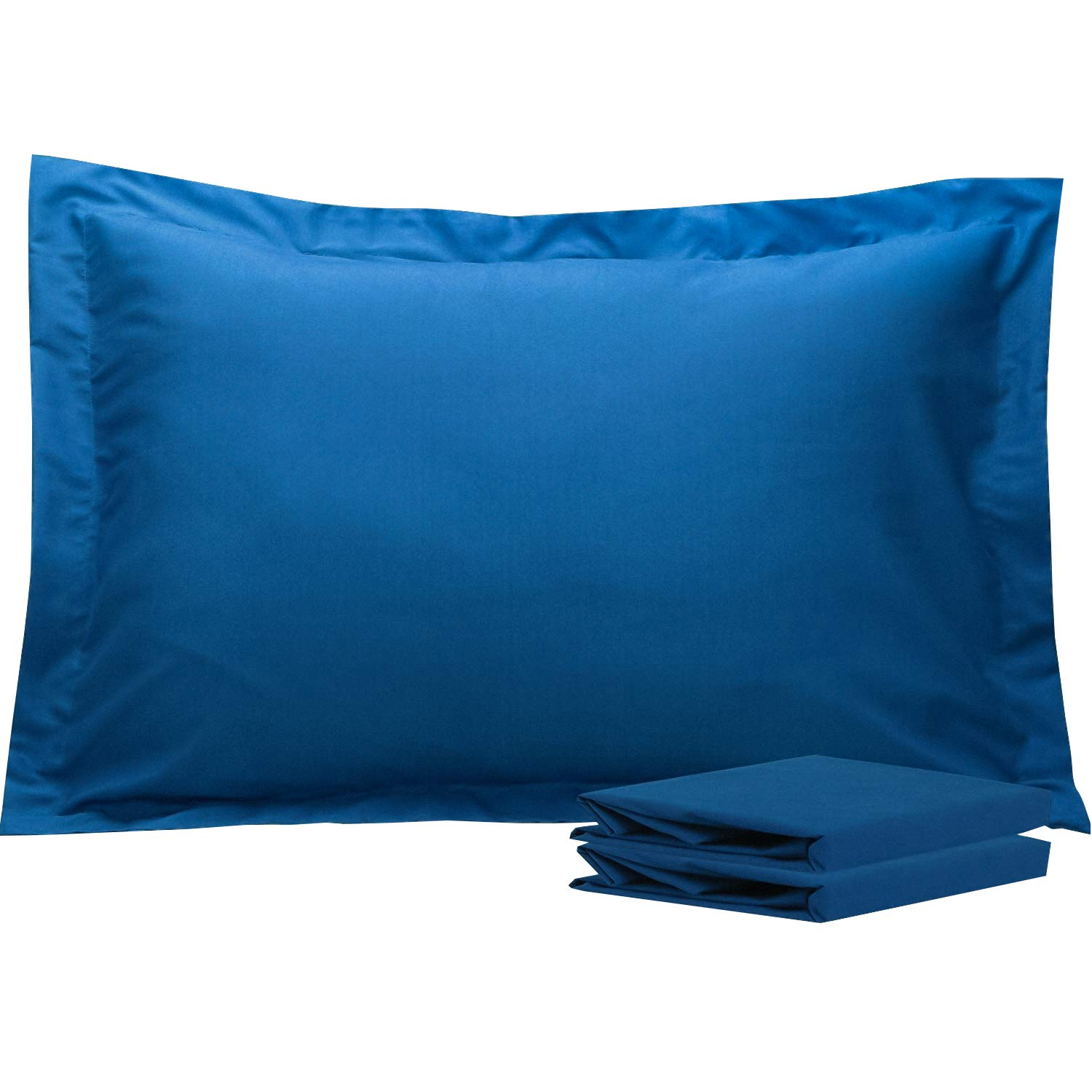 NTBAY Queen Pillow Shams, Set of 2, 100% Brushed Microfiber, Soft and Cozy, Wrinkle, Fade, Stain Resistant (Royal Blue, Queen)