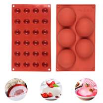 Silicone Molds for Chocolate, Diffirent Sizes Half Sphere Silicone Mold, Baking Diy Tool for Cookies Mousse Dessert Bread (5, 24 Cavity)