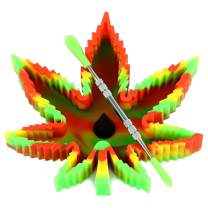 X-Value Rasta Silicone Leaf Ashtray Unbreakable Decorative Tray Colorful Holder for Outside/Indoor/Home Decor