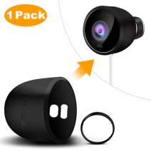Nest Cam Outdoor Skin, Taken Silicone Skins for Nest Cam Outdoor Security Camera - Durable and Weatherproof Nest Cam Outdoor Cover (1 Pack, Black)