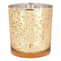 Just Artifacts Bulk Mercury Glass Votive Candle Holders 3-Inch Speckled Gold (Set of 120) - Mercury Glass Votive Candle Holders for Weddings and Home Décor