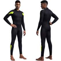 Dark Lightning Mens 3mm Full Suit Wetsuit for Scuba Diving, Snorkeling Surfing Thick and Warm Jumpsuit for Multi Watersports(L Size)