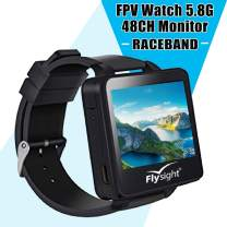 Flysight 5.8Ghz FPV Watch Racing Band 48Channel Receiver Mini Wearable Screen Monitor Watch with Raceband HD 2 Inch Real-IME Video Display for RC Drones Compatible with Bos200RC Gteng Watch