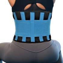 RiptGear Back Brace for Men and Women - Back Pain Relief Support for Lower Back Pain and Hip Pain - Lumbar Severe Back Pain Relief for Herniated Disc and Sciatica (Blue, XX-Large)