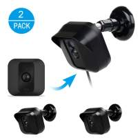 Blink XT XT2 Camera Wall Mount Bracket,EastKing Weather Proof 360 Degree Full Protective Adjustable Outdoor Indoor Mount and Cover Case for Blink XT XT 2Home Security Camera System (Black,2 Pack)
