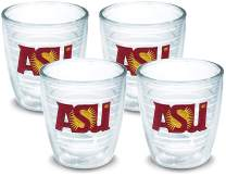 Tervis 1007813 Arizona State Sun Devils Tumbler with Emblem 4 Pack 12oz, Clear