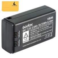 Godox VB26 Li-ion Battery Compatible for Godox V1-S V1-N V1-C V1-F V1-O V1 Round Head Camera Flash