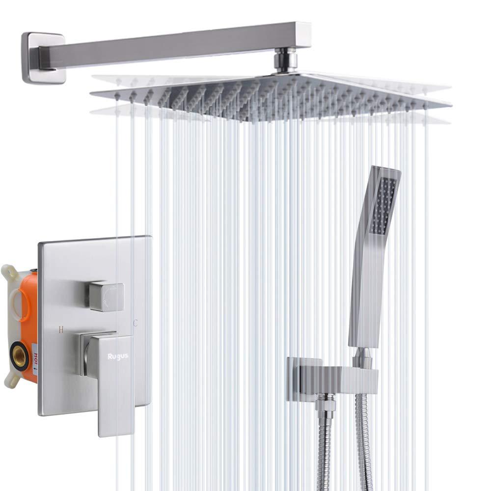 Rugus Shower System,Luxury Rain Mixer Shower Combo Set Wall ...