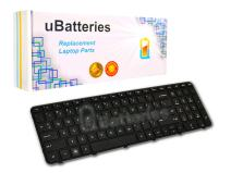 UBatteries Compatible Laptop Keyboard Replacement for HP Pavilion G6 G6-2000 699497-001 700271-001 697452-001 673613-001 2B-04801Q121 R36 681800-001 (Black, with Frame, Small Enter Key Style)