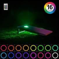 heartbeats Cornhole Lights Ring kit, Set of 2 pcs, Board Hole Lights, Toss Bean Bag Game Lights Backyard Board Game Lights,Tailgate Game