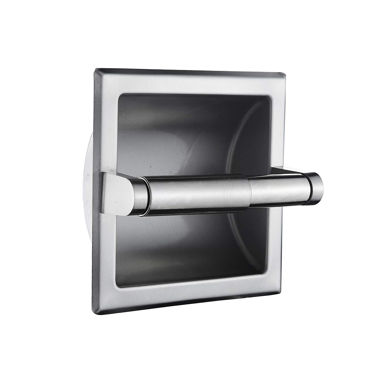 Top Taste Recessed Toilet Paper Holder Wall Toilet Paper Holder,Modern style toilet paper holder,Recessed Tissue Roll Dispenser for bathroom- Recessed Toilet Tissue Holder Includes Rear Mounting Brack